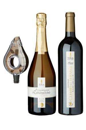 TOGA Chouette D'or Blanc /トガ シュエット ドオール ブラン 赤ワイン&シャンパンセット ワイン/WINE