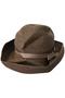 BOXED HAT(11cm brim) マチュアーハ/mature ha. ダークブラウン/ピンクベージュ