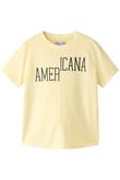 ピグメント染めリメイク風Tシャツ Americana