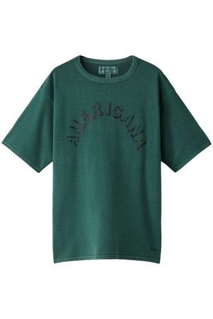 【MEN】ピグメント染めテーパードTシャツ アメリカーナ/Americana