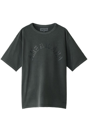 【MEN】ピグメント染めテーパードTシャツ Americana
