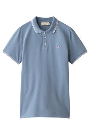 【MEN】RIB STRIPES ポロシャツ MAISON KITSUNE