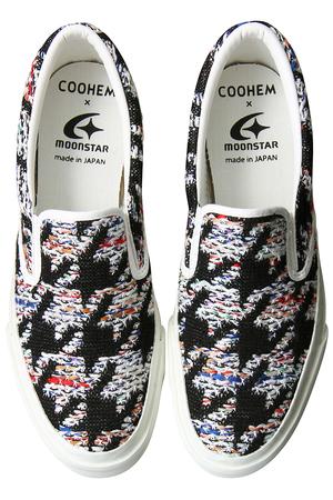 Coohem × MoonStar HOUNDSTOOTH TWEEDスニーカー コーヘン/Coohem