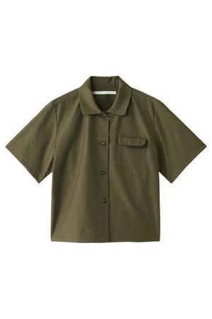 ツイルオープンネックショートシャツ ハウスコミューン/House_Commune
