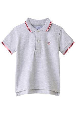 【MEN】【kids】鹿の子編み半袖ポロシャツ プチバトー/PETIT BATEAU