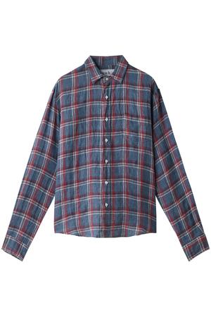 【MEN】LUKE リネンチェックシャツ フランク&アイリーン/Frank&Eileen