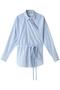 ブローチドロンストラップシャツ ウィム ガゼット/Whim Gazette サックス