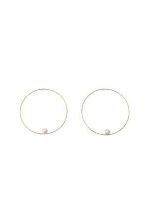 【Melissa McArthur Jewellery】1粒パールサークルピアス(2P) エリオポール/HELIOPOLE