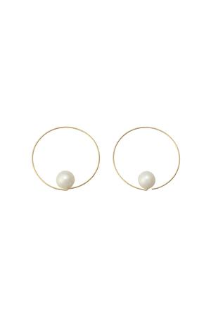 【Melissa McArthur Jewellery】1粒ビックパールサークルピアス(2P) エリオポール/HELIOPOLE