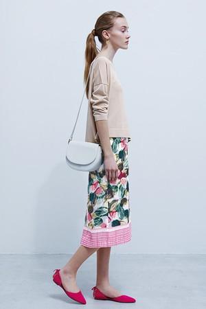 パネル花柄オリジナルプリントタイトスカート エリオポール/HELIOPOLE