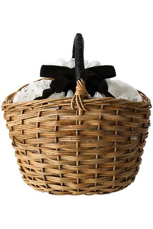 【予約販売】【Flea Store Vegetal】リバーレース ラタンバスケット フリー ストア/Flea Store