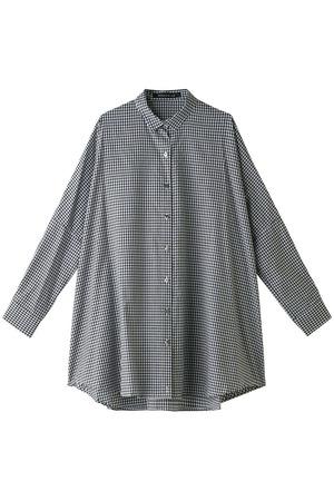 ギンガムチェックシャツチュニック ミズイロインド/mizuiro ind