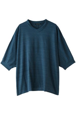 VネックワイドドルマンTシャツ ミズイロインド/mizuiro ind