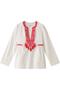 JAU 刺繍カフタン クリストフ ソヴァ/CHRISTOPHE SAUVAT ホワイトピンク