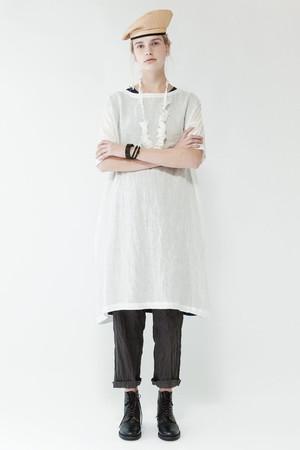 リネンラリエット付ワンピース ネストローブ/nest Robe