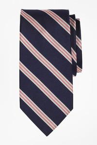 <ELLE SHOP> Brooks Brothers ブルックス ブラザーズ メンズ(MENS)Basic ミニBB#1ストライプ レップタイ ネイビー/ホワイト/ピンク