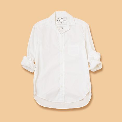 ホワイトシャツは「フランク&アイリーン」で探して