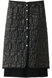 <ELLE SHOP> MUVEIL ミュベール リボンキルティングスカート ブラック画像