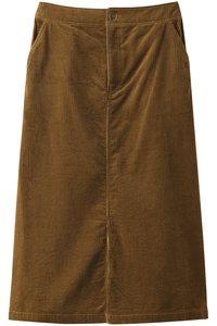 <ELLE SHOP> MUVEIL ミュベール コーデュロイコンビスカート キャメル画像