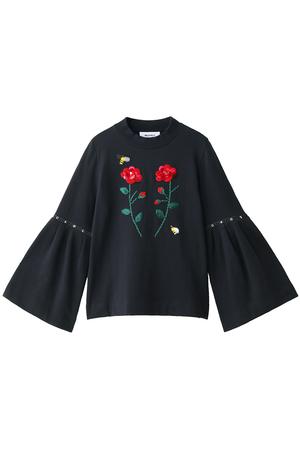 お花刺繍裏毛プルオーバー ミュベール/MUVEIL