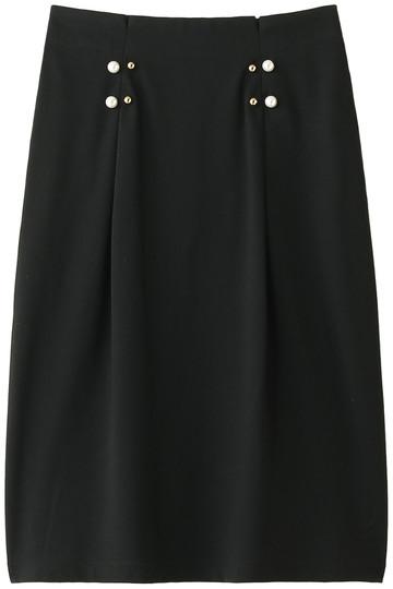 MUVEIL ミュベール 【MUVEIL WORK】パール付ジャージスカート ブラック