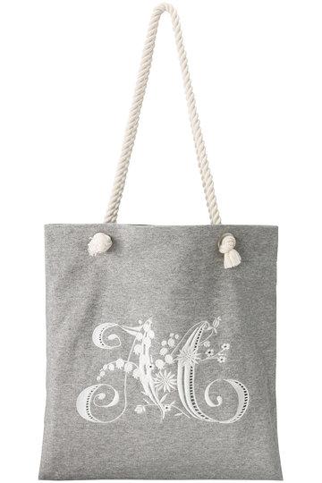 ミュベール/MUVEILの刺繍裏毛バッグ(ヘザーグレー/MA84EBG011)