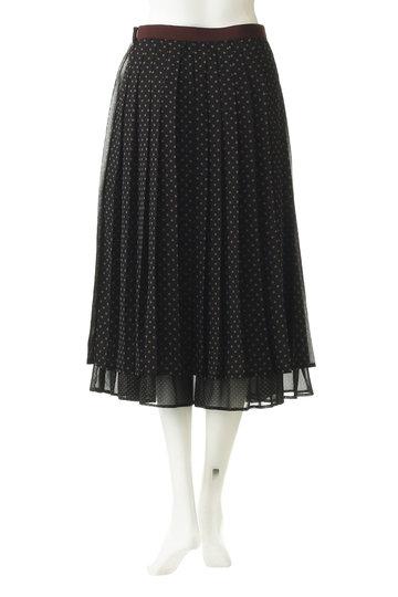 ミュベール/MUVEILの【MUVEIL WORK】ドットプリーツスカート(ブラック/MW91FS010)