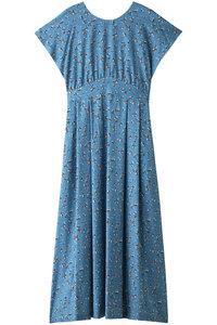 30%OFF!<ELLE SHOP>フラワープリントドレス ブルー画像