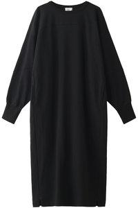 <ELLE SHOP> Shinzone シンゾーン ホッケーステッチドレス ブラック画像