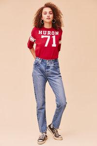 <ELLE SHOP>ジェネラルジーンズパンツ ブルー画像