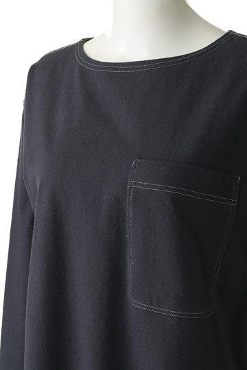 シンゾーン/Shinzoneのネップドレス(ネイビー/19SMSCU03)