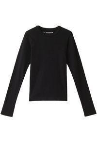 <ELLE SHOP>リブロングTシャツ ブラック画像