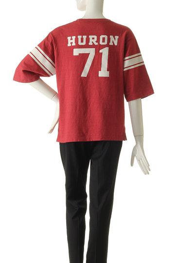 シンゾーン/Shinzoneの【予約販売】フットボールプリントTシャツ(レッド/19SMSCU77)