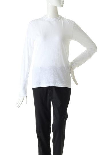 シンゾーン/ShinzoneのコットンロングスリーブTシャツ(ホワイト/19AMSCU03)
