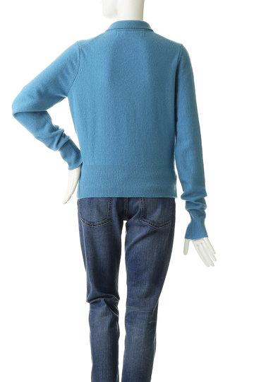 シンゾーン/Shinzoneの【予約販売】ウール襟付ポロカーディガン(ブルー/19AMSNI54)