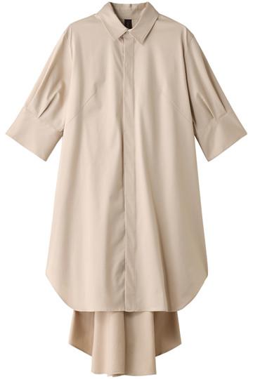 <ELLE SHOP> MIHARA YASUHIRO ミハラ ヤスヒロ バックフレアシャツドレス ベージュ