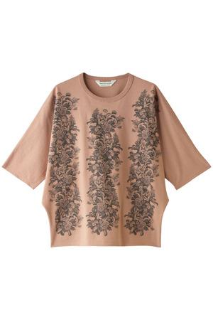 トラップフラワープリントTシャツ ビューティフルピープル/beautiful people