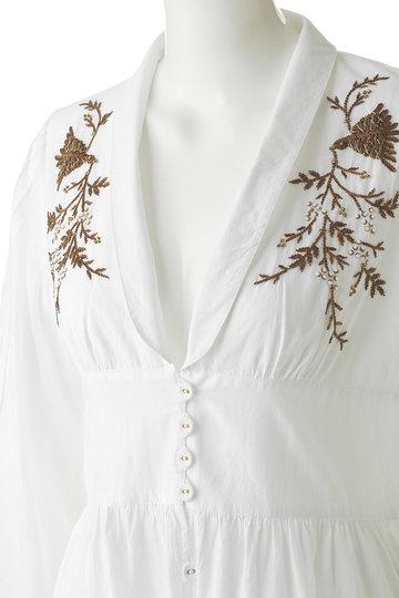 ヴェルニカ./Velnica.の刺繍ベルスリーブガウンドレス(ホワイト/19003)