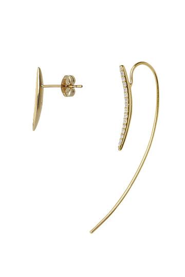 アヤミ ジュエリー/AYAMI jewelryの【受注生産】アシメトリーカーブピアス(ゴールド/APS-G162636)