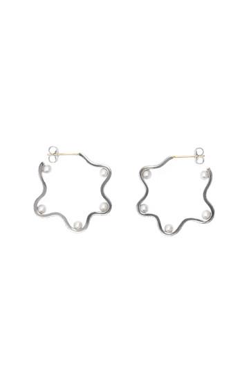 アヤミ ジュエリー/AYAMI jewelryの【受注生産】淡水パールピアス(シルバー/APS-G182604)