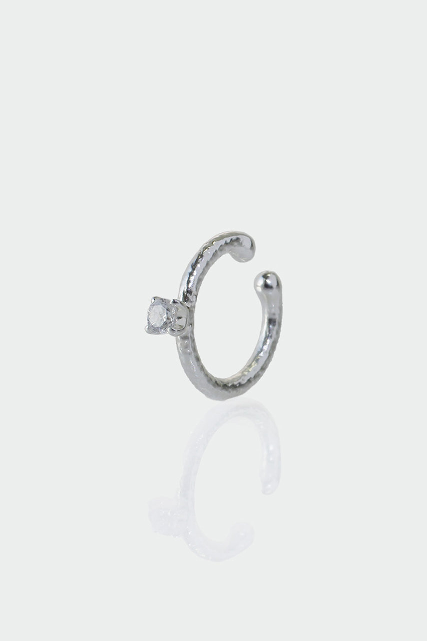 アヤミ ジュエリー/AYAMI jewelryの【ELLE SHOP限定】ラウンドストーンミニイヤーカフ(片耳用)(シルバー/AE-J201913)