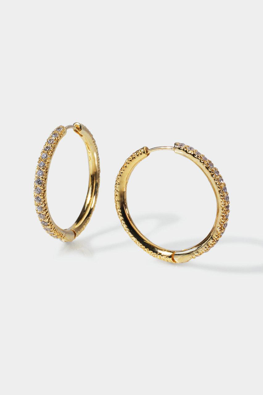 アヤミ ジュエリー/AYAMI jewelryのPave フープピアス(ゴールド/APS-G92616)