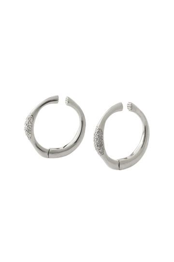 アヤミ ジュエリー/AYAMI jewelryのパヴェ キャッチイヤリング(シルバー/AE-S161103)