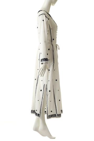 マリリンムーン/MARILYN MOONの【wa...lance★★】刺繍ロングワンピース(オフホワイト×ブラック/30-5318)