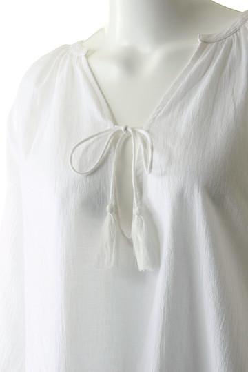 マリリンムーン/MARILYN MOONの【wa...lance★★】Vネックブラウス(オフホワイト/30-5326)