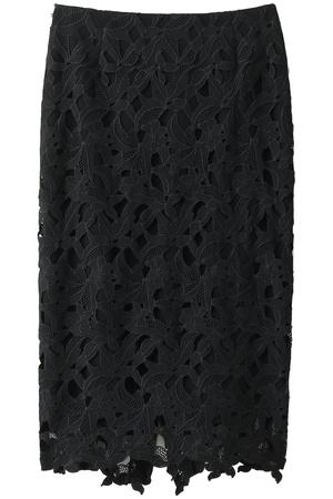 刺繍フラワーカットレーススカート アウラ/AULA