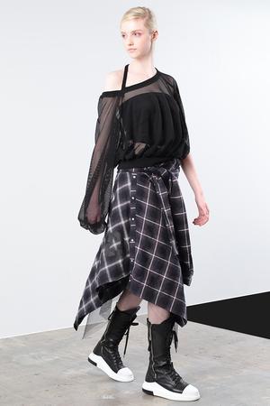 チェックシャツスカート アウラ/AULA