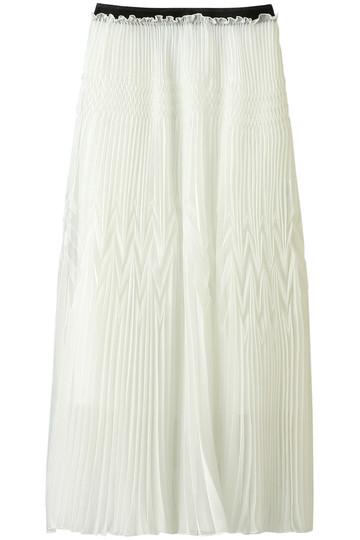 AULA アウラ ダブルプリーツスカート オフホワイト