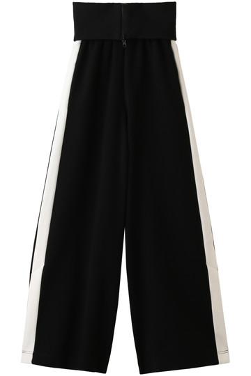 アウラ/AULAのウエストリブワイドパンツ(ブラック/3184-06085)