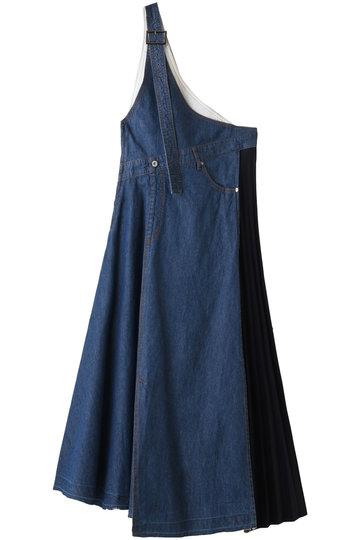 アウラ/AULAの【AULA AILA】ワンショルダー ジャンパースカート(BLUE/1191-03029)
